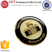 Custom 1 Inch Gold Plated Photo Etched Enamel Lapel Pin
