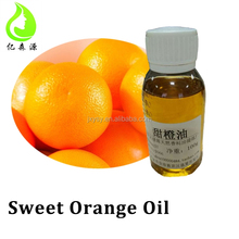 100% Pure Natural Sweet Orange Fruit Oil Used for Perfume Compound in Drink Food Toothpaste / Medicine Raw Materials