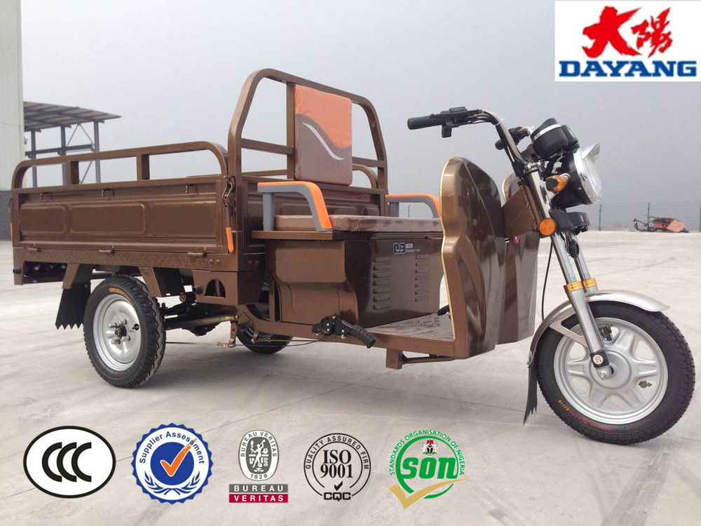 2016 china chongqing best selling factory price 800/1000/1200w electric tricycle cargo three wheel adult scooter
