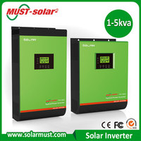 China Manufacturer MUST PH1800 Plus 5000VA Hybrid Solar Power Inverter with LCD Display for Grid Connected PV