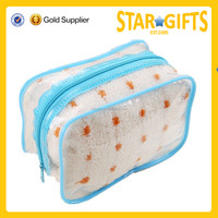 Best selling simple style oudoor custom clear cosmetic pvc bag
