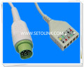 Siemens 10 Pin ECG Trunk Cable Manufacture in ShenZhen