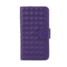 Phone case weave design PU flip pu leather case for iphone 5