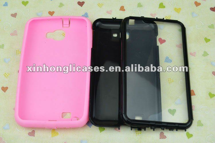 Fashionable double protective silicon case for samsung galaxy s3/i9300,for samsung galaxy s3/i9300 accessory