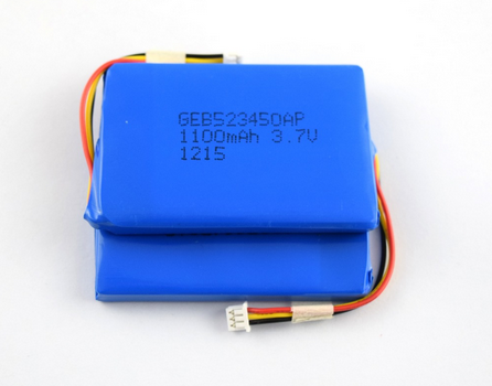 3.7v 1100mah 523450 li-ion battery for electric device