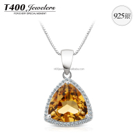 T400 fashion joyas de 925 sterling plata con crystal from swarovski necklace gift 10594