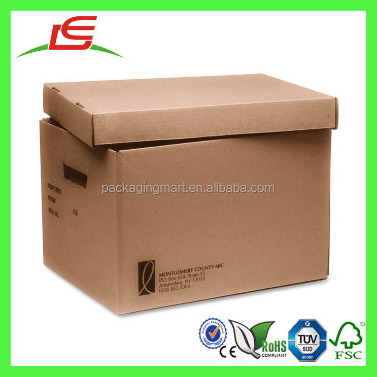 J511 Custom Removable Top Cardboard Box with Handle