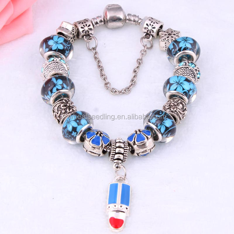 chinese supplier lipstick ankle bracelet alibaba girls fancy bracelets