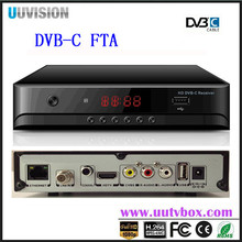 new Digital TV satellite receiver best cheap Uuvision OEM DVB-C set top box DVBC-UC1682 with MSTAR 7C01 Hot sale