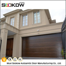 Roll up metal garage door with windows inserts