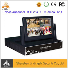 7Inch 4Channel H.264 D1 LCD Combo 3G WIFI 1 SATA HDD DVR( JD-DH7204L)