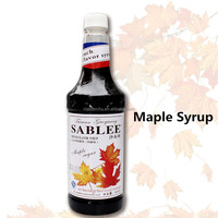 SABLEE French maple sugar flavor syrup for beverage with Halal 900ml