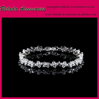 wholesale Best selling silver jewelry cheap branded Cubic zirconia bracelet for wedding gifts