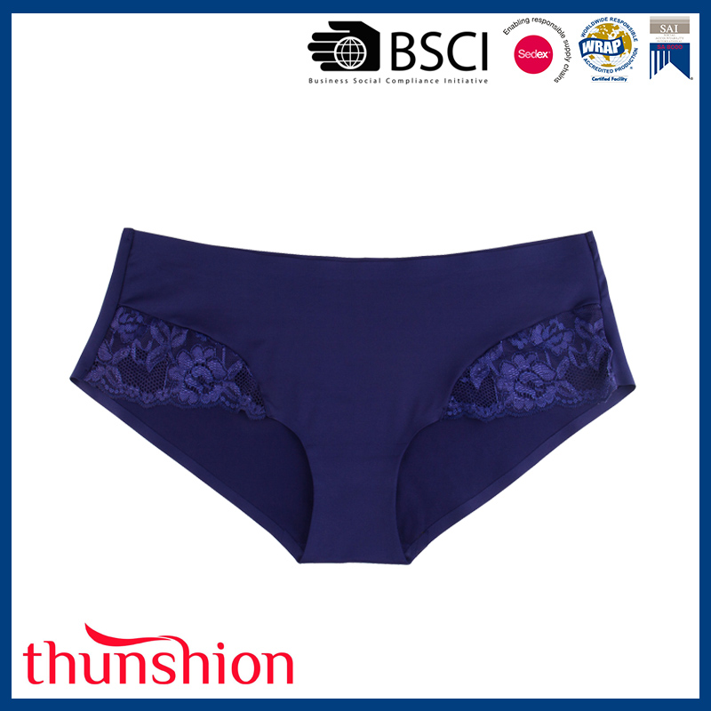 New Design Underwear for Ladies Bonded One Piece Seamfree Lace Panties