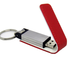 Hot Selling gift Embossed Leather USB Flash Drive