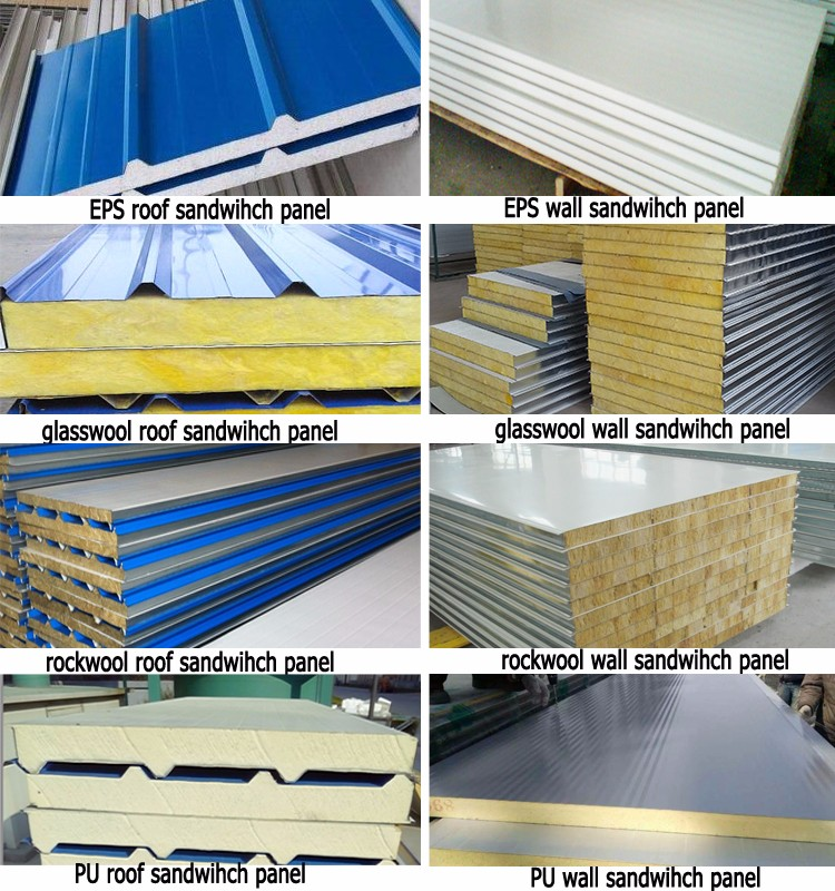 Sandwich Panels Types : Metal aluminum corrugated plastic type of roofing sheets