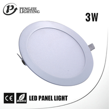 3 watt high lumen dimmable indoor ip44 smd aluminum led panel light