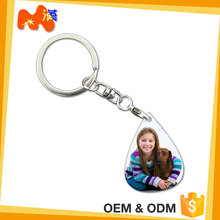 Decoration In Christmas Custom Alphabet Shape Plastic Key Chain