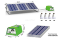30W Solar Panel Home Lighting System including Cell Phone Charger and Lights (YH1003)