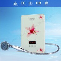Touch panel water heater thermostat