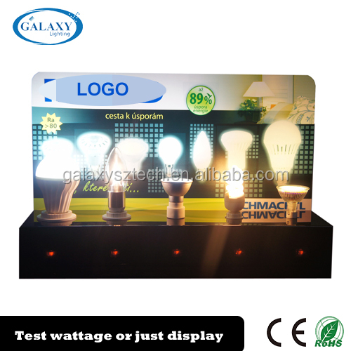 Durable customized LED bulb acrylic display case with different bases