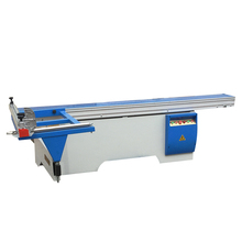 Woodworking sliding table saw with scoring blade