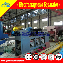 Three-Disc electromagnetic separator machine for sorting magnetic minerals mixed ore