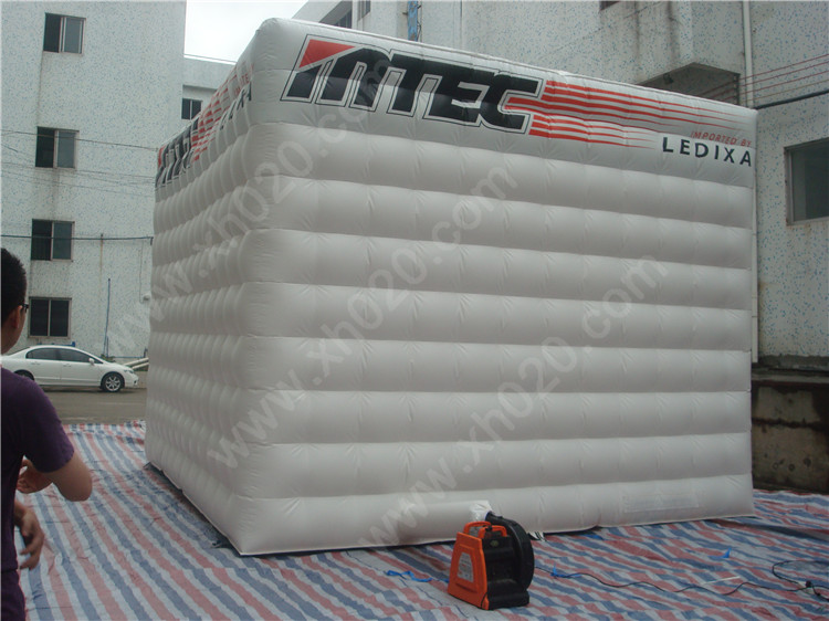 Brand new inflatable cube tent for events or promotion with certificate