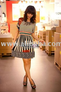 Wholesale pinko stripe star fashion dress-----44$/per