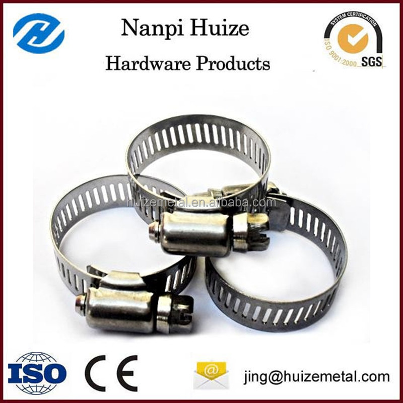 American Stainless Steel Worm Gear Hose Clamp Pipe Clamp