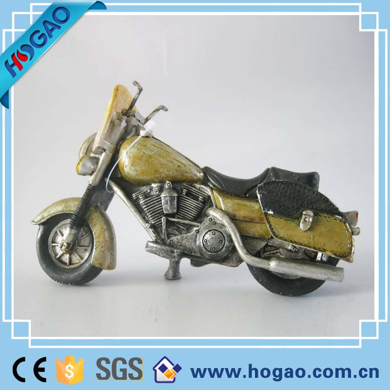 Two-wheels Fire Motorcycle Model Resin Material