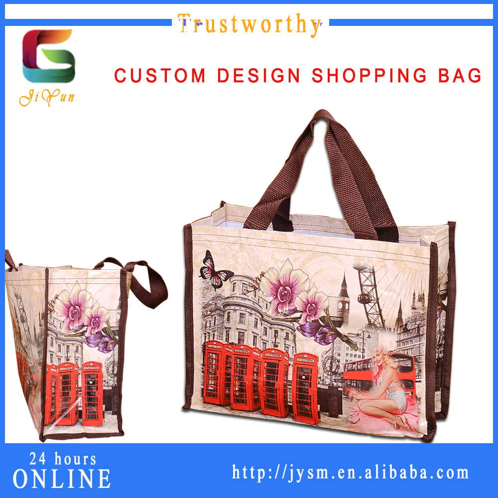 Lastest Product Hot Selling PVC PU Custom Printed Classic Fashion Ladies Wholesale Cheap Shopping Bags Carrier Bag