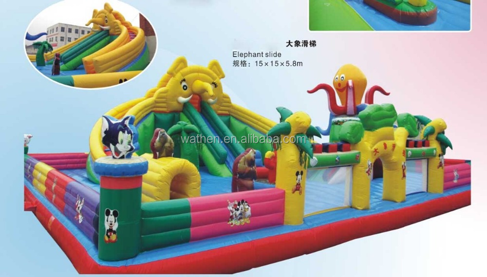 Inflatable Elephant Slide - Latest large customized animal inflatable playground series for promotion for advertising