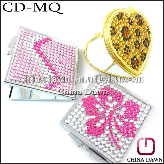High end handmade stones mirror with gold frame CD-MQ030