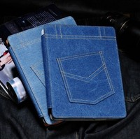 Shen zhen factory smart denim jean stand case for Apple ipad air