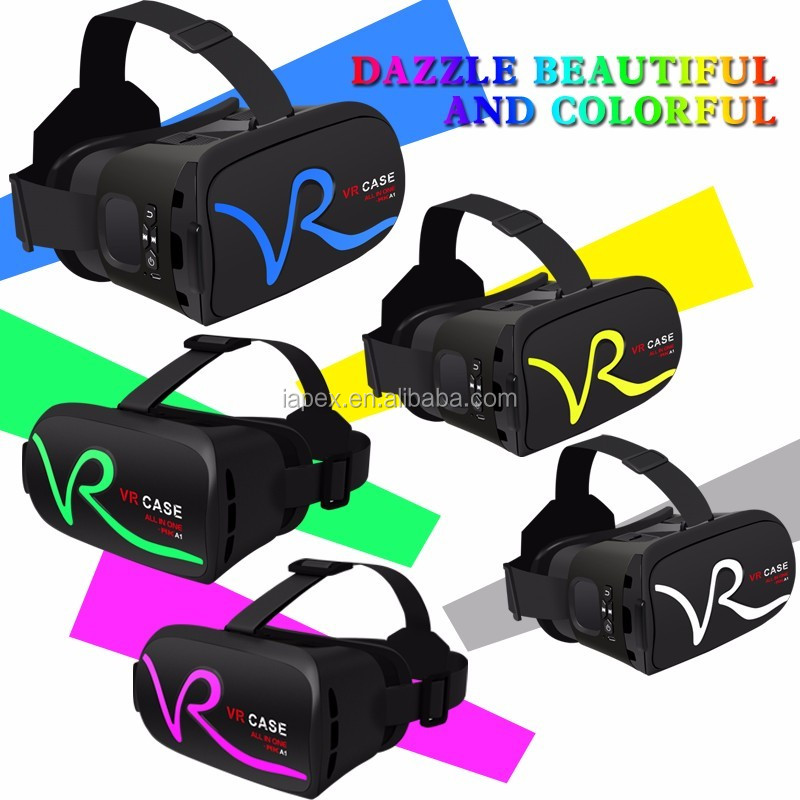 VR CASE RK-A1 all in one headset Google cardboard Virtual Reality 3d vr glasses