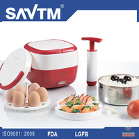 Electrical Stainless steel vacuum lunch box with multifunction egg boiler