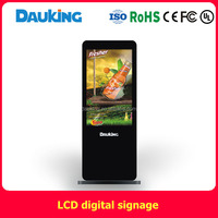 46inch free standing network wifi LCD advertising display screen