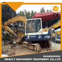 Original Used Japanese PC60 PC60-6 Mini Crawler Excavator For Earth Moving Machinery
