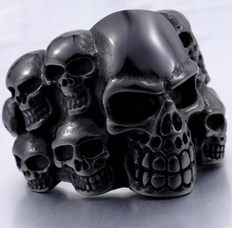 Retro Mens Casting Styles Punk Stainless Steel Fashion Skull Rings