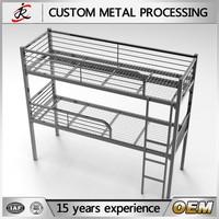 Modern bedroom design OEM service metal double bunk bed