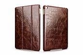 ICARER Oil Wax Vintage Genuine Leather Folio Case for iPad Air 2