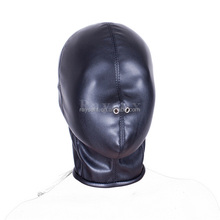 Fetish Sex Toys PU Leather Sexy Mask Breathing Bondage Hood ZIPPER Cosplay Slave Mask Adult Game Erotic sex Toys For Women
