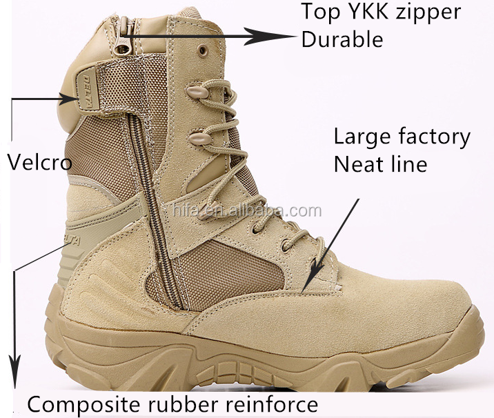 Sandy Breathable Light Weight Mens' Ultra-Light Combat Boots Military Tactical Boots Delta Boots