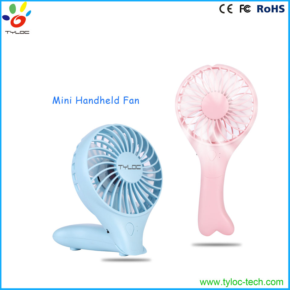 Factory price portable hand fan air cooling fan with cute design