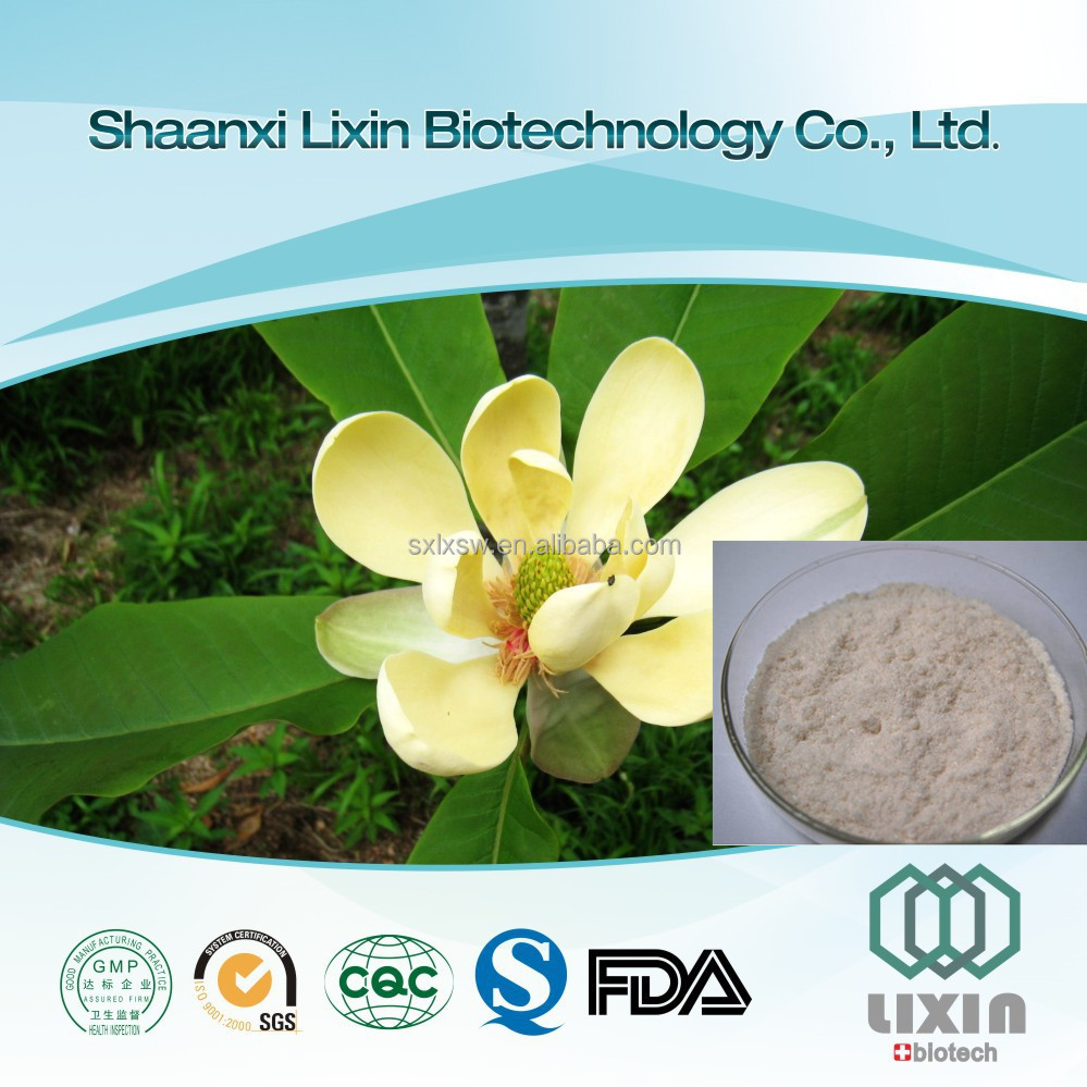 GMP Wholesale High Quality Magnolia Bark Extract with Honokiol / Magnolol