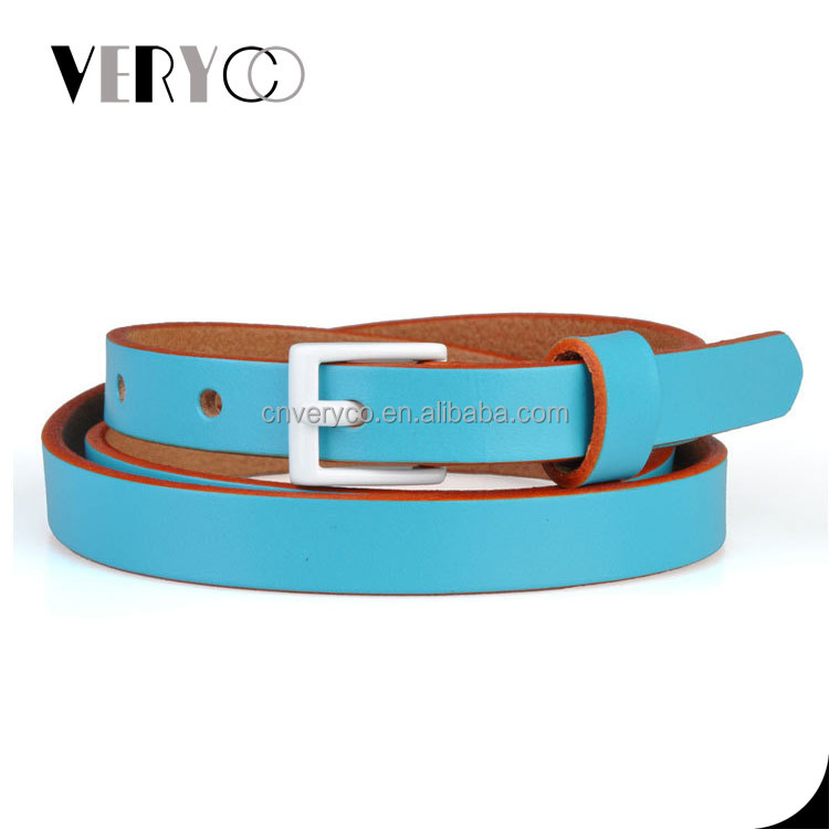 Women's Genuine Leather Belt Colored Ladies' Leather Belt