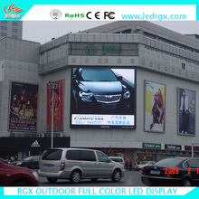 Shenzhen RGX OEM customize brand name Newest price 192*192mm 1/4 scan P6 RGB led display outdoor fixed advertising bill board