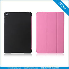 Book Style Flip Leather Covers For iPad Mini, Smart Wake/Sleep Function Leather Covers For iPad Mini