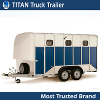 Cheap car trailer single or 2 Horse Box Trailer for sale